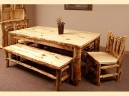 Log Dining Room Table Trestle Aspen Log Dining Room Table Southern Creek Rustic