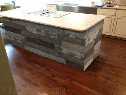 barnwood kitchen island artificial barn wood panels make any kitchen island look fantastic