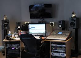 Studio Monitors On Desk by Inside The Podcast Studio Archives Prx