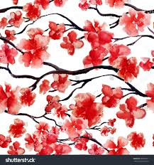 japanese cherry blossom tree seamless stock vector