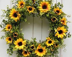 sunflower wreath sunflower wreath fall wreath fall decor flower wreath