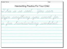 printable handwriting worksheets for 2nd graders printable handwriting practice cursive handwriting practice sheets