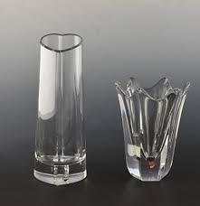 Orrefors Vase Two Orrefors Crystal Vases Ebth