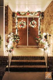 decorating front porch with christmas lights front door decorations holiday ready in an afternoon