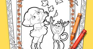 dora explorer thanksgiving coloring pack nickelodeon parents