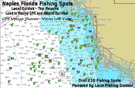 map of naples fl naples florida fishing map and fishing spots for gps