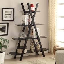 Bookcase Black Wood Amazon Com Convenience Concepts Oxford 5 Tier Bookcase Black