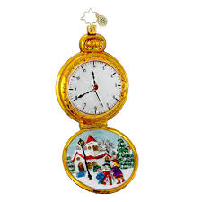 radko ornaments ornament moment in time pocket