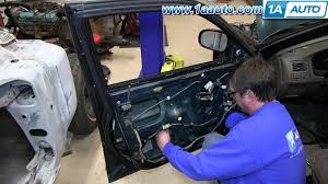 how to install replace front power window regulator and motor 1996
