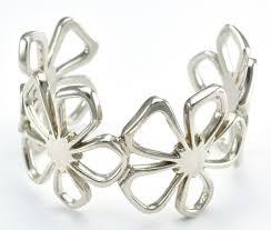cuff bracelet tiffany images Tiffany co 925 silver flower design cuff style bangle bracelet JPG