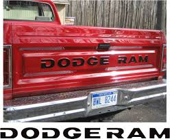 Dodge Ram 3500 Truck Parts - 81 93 dodge ram full size pickup truck tailgate letters decals