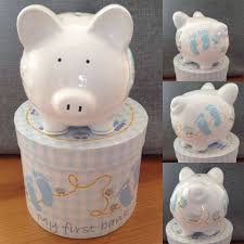 personalised piggy bank boy s my 1st personalised ceramic piggy bank