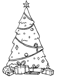 free christmas tree colouring pages kids christmas coloring