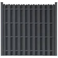 vidaxl wpc fence panels garden wall outdoor patio barrier square