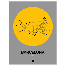 Barcelona Subway Map by Barcelona Subway Map Yellow Subway City Maps Touch Of Modern