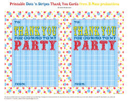birthday party planner template thank you for coming to my party party ideas pinterest free bnute productions free printable dots n stripes birthday party invitations