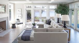 Family Room Seating And Large Painless Windows Set On Either Side - Family room window ideas
