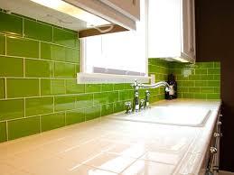 green tile kitchen backsplash lush lemongrass 3x6 green glass subway tile kitchen backsplash and