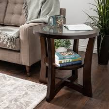 glass top end table with drawer espresso copper grove eclipse espresso glass top end table free shipping