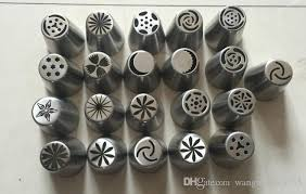 flower decorating tips 2018 one batch forming flower nozzles stainless steel icing piping