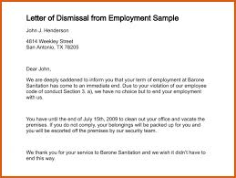 termination letter samples apa examples