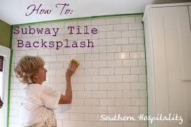 to install a subway tile backsplash