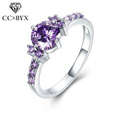 Purple Wedding Rings by Online Get Cheap Ring Purple Aliexpress Com Alibaba Group