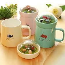 wholesale creative micro landscape ceramic cup lovely big belly