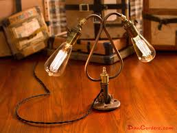 industrial desk lamp edison bulb desk lamp with industrial table and 2 il fullxfull