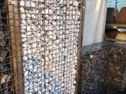 gabionen selber bauen sichtschutz ideen aus stein