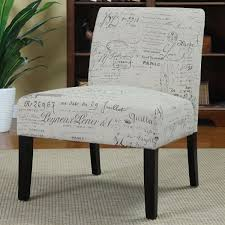 Armless Accent Chair Accent Chair With Script Writing