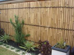Patio Fence Ideas by Bamboo Fence Fencing Bamboo Screen 2 4m X 1m Double Lacquer