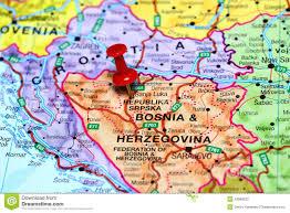 Bosnia Map Red Pushpin On Map Of Bosnia Stock Image Image 29855351