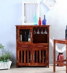 Large Bar Cabinet Buy Mayville Large Bar Cabinet In Honey Oak Finish By Woodsworth