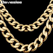 gold filled chain necklace images Davieslee men 39 s necklace gold filled chain for men women curb jpg
