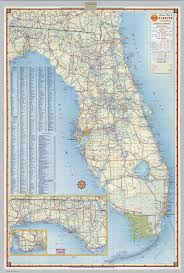 Map Of Florida by Shell Highway Map Of Florida David Rumsey Historical Map Collection