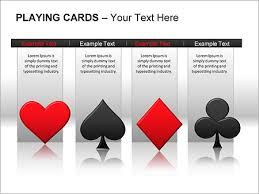 Playing Card Design Template Playing Cards Ppt Diagrams U0026 Chart U0026 Design Id 0000002135