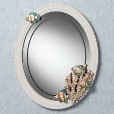 White Wall Mirror Decorative Round Mirrors For Walls Bathroom Mirror White Frame 5