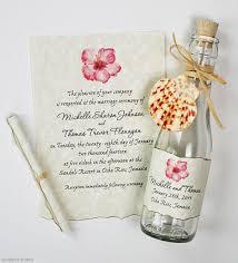 Cover Invitation Card Wedding Invitation Ideas Charming Beach Bottle Wedding