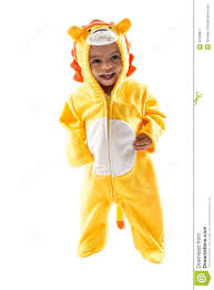 halloween background child black child boy dressed in lion carnival suit isolated on white