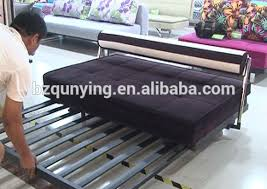 Newest Simple Design Pull Out Metal Sofa Bed Frame With Steel - Steel sofa designs