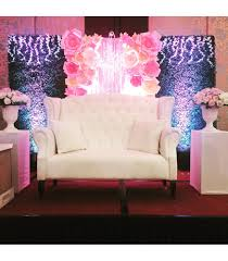 wedding backdrop design philippines paper flower with grass wall backdrop