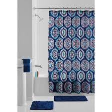Bathroom Sets With Shower Curtain And Rugs And Accessories Coffee 18 Piece Bathroom Set 2 Rugs Mats 1 Fabric Shower Curtain