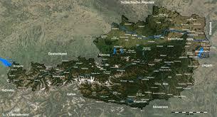 Map Austria Map Of Austria Satellite Map Weltkarte Com Karten Und
