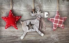 christmas crafts reindeer and stars widescreen wallpaper wide