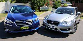 subaru japanese logo subaru liberty old v new comparison fourth generation 3 0r v