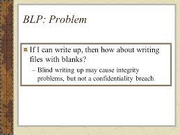 Blind Write Multilevel Security Mls Ppt Download