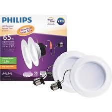 warm led recessed lights buy philips warm glow retrofit led recessed light kit