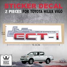 cm toyota ect i automatic 2pcs sticker badge decal fit toyota hilux vigo sr5
