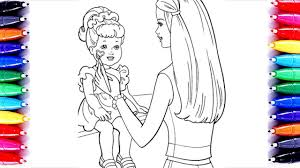 barbie painting chelsea coloring book pages kids learn color